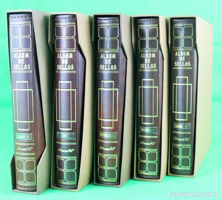 COLECCIÓN DE SELLOS DE ESPAÑA EN BLOQUES DE CUATRO. CORRESPONDE AL PERIODO 1980 A 1997 (Sellos - Colecciones y Lotes de Conjunto)