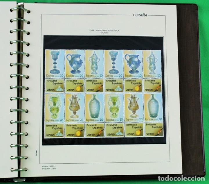 Sellos: Colección de sellos de España en bloques de cuatro. Corresponde al periodo 1980 a 1997 - Foto 4 - 155555654