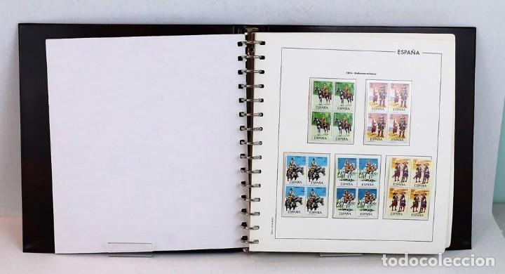 Sellos: Álbum hojas edifil con filoestuche,bloque de 4,1974-1976, todos los sellos excepto hojas bloque - Foto 2 - 155779946