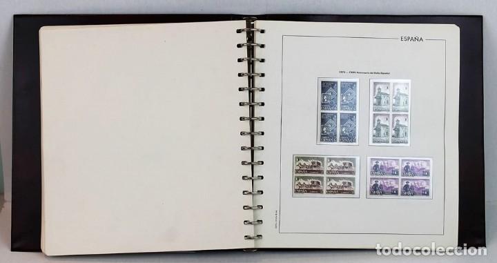 Sellos: Álbum hojas edifil con filoestuche,bloque de 4,1974-1976, todos los sellos excepto hojas bloque - Foto 3 - 155779946