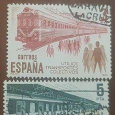 Sellos: SELLOS DE ESPAÑA UTILIZA TRANSPORTE COLECTIVOS, CIRCULADOS.. Lote 156495086