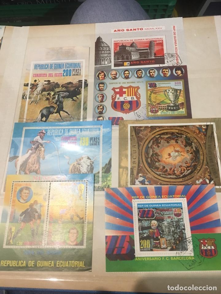 COLECCIÓN DE 87 HOJAS BLOQUE DE ESPAÑA GUINEA ALEMANIA Y HOLANDA (Sellos - Colecciones y Lotes de Conjunto)