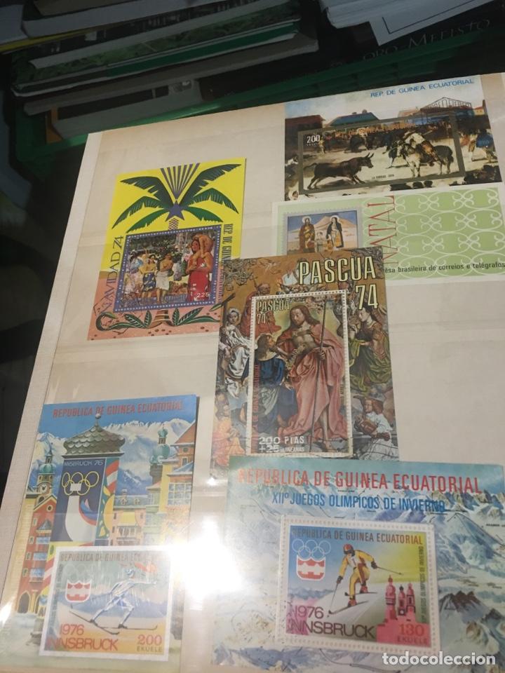 Sellos: Colección de 87 hojas bloque de españa Guinea Alemania y holanda - Foto 2 - 158795048