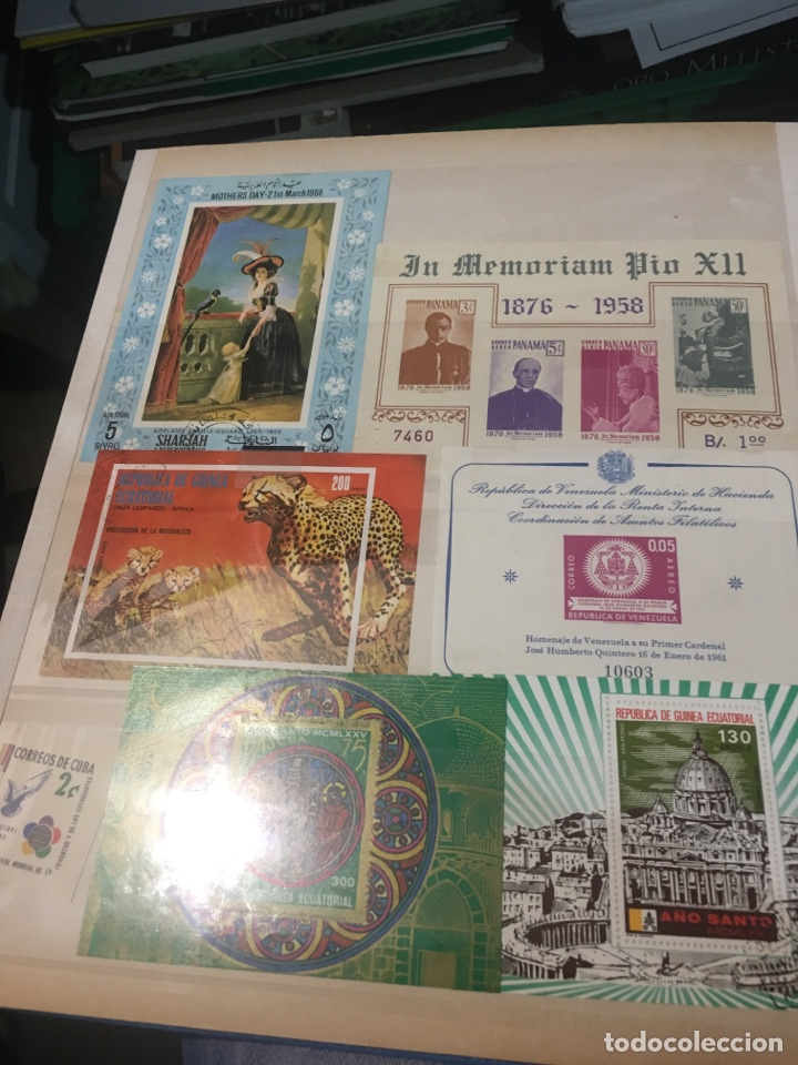 Sellos: Colección de 87 hojas bloque de españa Guinea Alemania y holanda - Foto 6 - 158795048