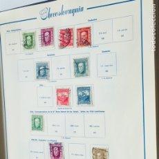 Briefmarken - Resto Colección Sellos Checoslovaquia 1920 a 1960 . Hojas Filabo. - 161024122