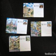 Sellos: LOTE SET COMPLETO TARJETA POSTAL ESPAÑA LUGARES BARCELONA ZARAGOZA CORDOBA MADRID MONEDA Y TIMBRE . Lote 167002544