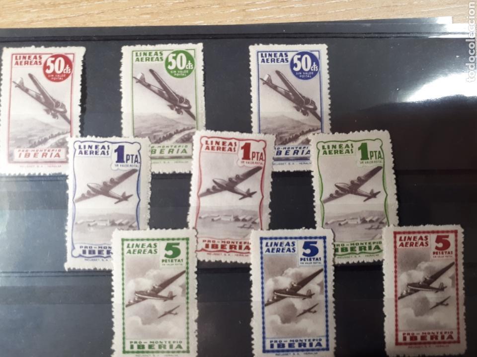 IBERIA PRO MONTEPIO GRAN LOTE LINEAS AEREAS LOT.78 (Sellos - Colecciones y Lotes de Conjunto)