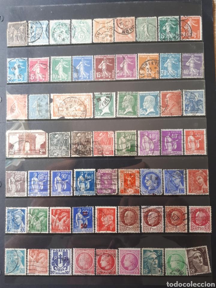 GRAN LOTE VARIADO SELLOS DE FRANCIA USADOS (Sellos - Colecciones y Lotes de Conjunto)