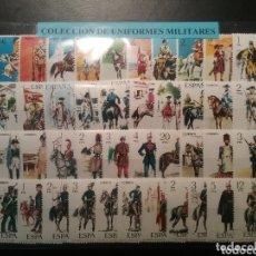 Sellos: COLECCIÓN SELLOS ESPAÑA UNIFORMES MILITARES NUEVOS. Lote 174068865