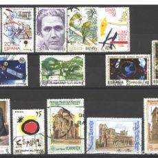 Sellos: ESPAÑA 1990 - LOTE DE 14 SELLOS DIFERENTES - USADOS. Lote 177730267