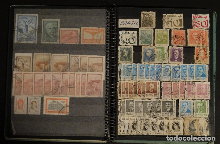 Sellos: Antiguo Clasificador con unos 650 sellos de America usados , ver fotos y comentarios - Foto 7 - 178061413