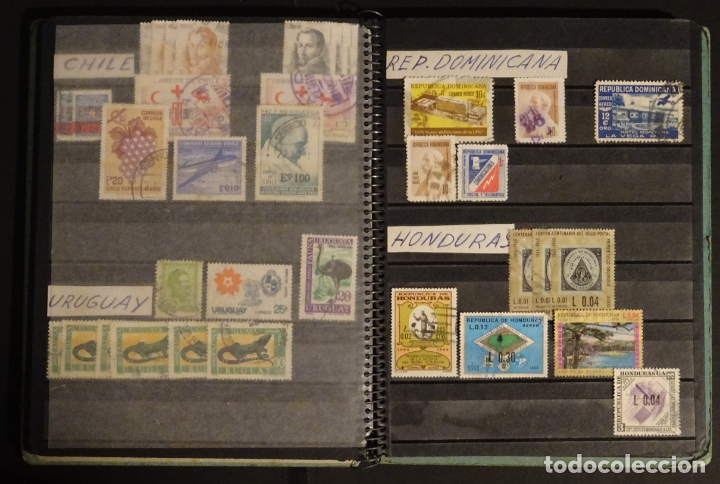 Sellos: Antiguo Clasificador con unos 650 sellos de America usados , ver fotos y comentarios - Foto 11 - 178061413