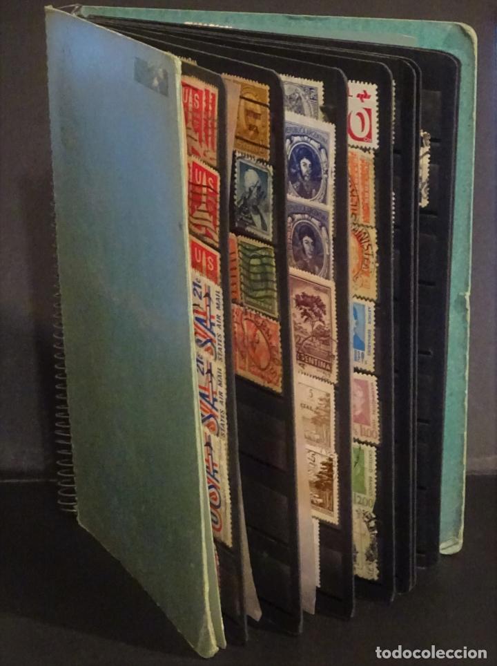 ANTIGUO CLASIFICADOR CON UNOS 650 SELLOS DE AMERICA USADOS , VER FOTOS Y COMENTARIOS (Sellos - Colecciones y Lotes de Conjunto)