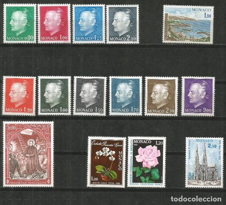 MONACO CONJUNTO DE 7 SERIES COMPLETAS ** NUEVAS SIN FIJASELLOS VALOR CAT. 37,80 EUROS (Sellos - Colecciones y Lotes de Conjunto)