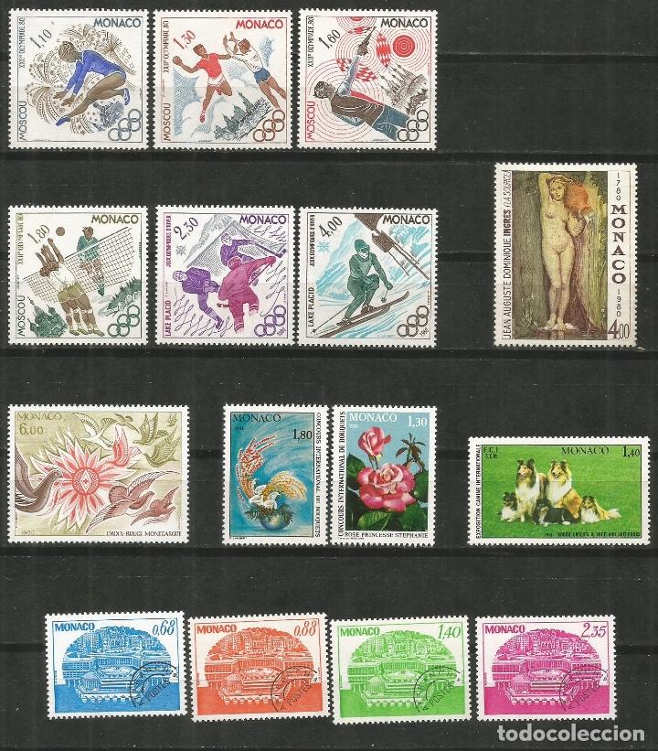 MONACO CONJUNTO DE 6 SERIES COMPLETAS ** NUEVAS SIN FIJASELLOS VALOR CAT. 37,05 EUROS (Sellos - Colecciones y Lotes de Conjunto)