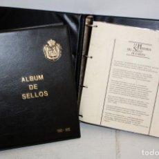 Sellos: PAREJA DE ALBUMS DE SELLOS EN PLATA DE 925. LA HISTORIA DEL SELLO EN ESPAÑA 1850-1900. SELI-D'OR. Lote 179244658