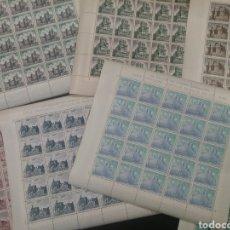 Sellos: LOTE DE 7 PLIEGOS SELLOS NUEVOS CASTILLOS. Lote 180233666