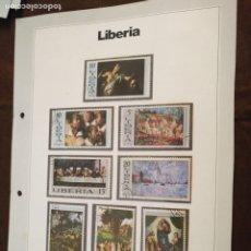 Sellos: HAGA SU OFERTA ------- SELLOS DEL MUNDO EDICIONES URBIÓN HOJA CON SELLOS COMPLETA LIBERIA. Lote 182082306