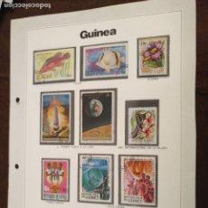 Sellos: HAGA SU OFERTA ------- SELLOS DEL MUNDO EDICIONES URBIÓN HOJA CON SELLOS COMPLETA GUINEA. Lote 182082333