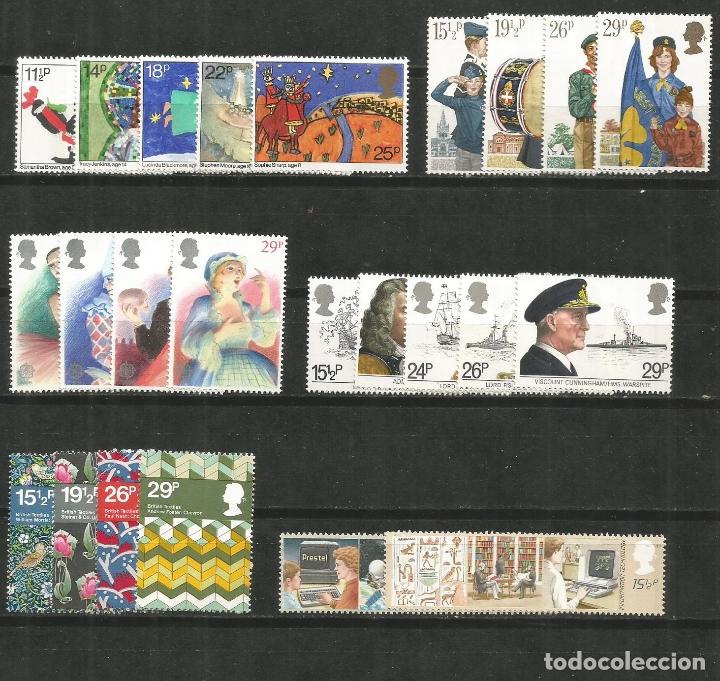 GRAN BRETAÑA CONJUNTO DE 6 SERIES COMPLETAS ** NUEVAS DE LOS AÑOS 1981-1982 VALOR CAT. 28,75 EUROS (Sellos - Colecciones y Lotes de Conjunto)