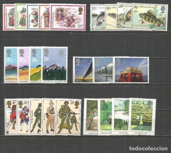 GRAN BRETAÑA CONJUNTO DE 6 SERIES COMPLETAS ** NUEVAS DE LOS AÑOS 1982-1983 VALOR CAT. 33,50 EUROS (Sellos - Colecciones y Lotes de Conjunto)