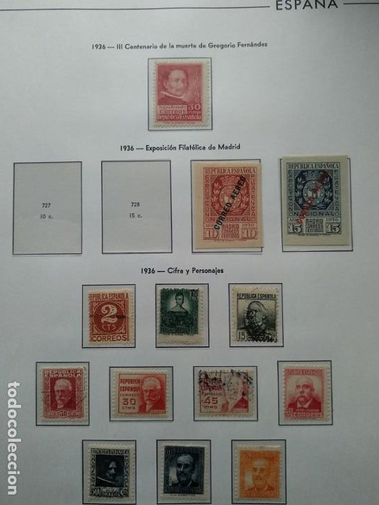 Sellos: Impresionante colección de sellos de España desde el número 1 año 1850 al número 3956 del año 2002 - Foto 53 - 187192891