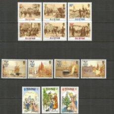 Sellos: ISLA DE MAN CONJUNTO DE 4 SERIES COMPLETAS ** NUEVAS SIN FIJASELLOS VALOR CAT. 27 EUROS. Lote 189215597