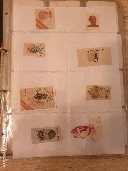 COLECCIÓN DE CUÑOS ....VIÑETAS SELLOS ESPAÑA (Sellos - Colecciones y Lotes de Conjunto)