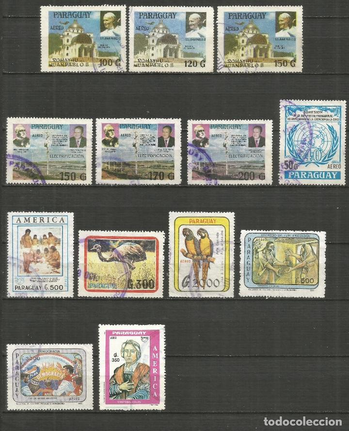 PARAGUAY CORREO AEREO CONJUNTO DE SELLOS USADOS (Sellos - Colecciones y Lotes de Conjunto)
