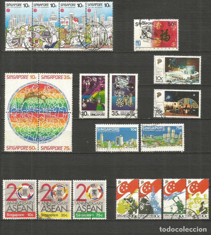 SINGAPUR CONJUNTO DE SELLOS USADOS DE LOS AÑOS 1986-1987 VALOR CAT. 14,55 EUROS (Sellos - Colecciones y Lotes de Conjunto)