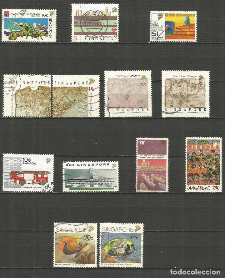 SINGAPUR CONJUNTO DE SELLOS USADOS DE LOS AÑOS 1988-1989 VALOR CAT. 27,30 EUROS (Sellos - Colecciones y Lotes de Conjunto)