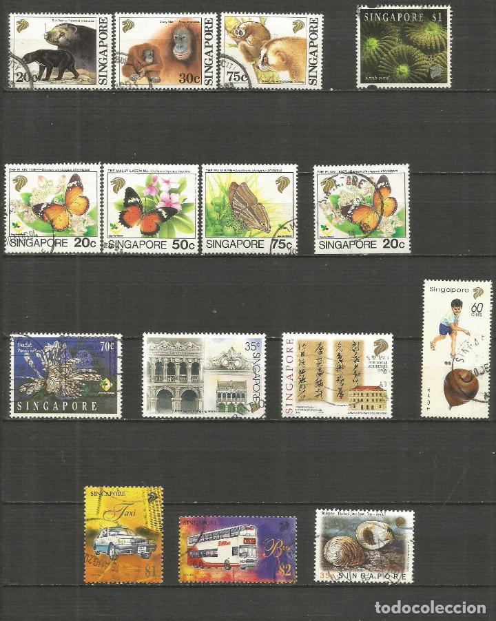 SINGAPUR CONJUNTO DE SELLOS USADOS DE LOS AÑOS 1993-1997 VALOR CAT. 15,45 EUROS (Sellos - Colecciones y Lotes de Conjunto)