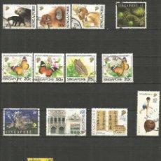 Sellos: SINGAPUR CONJUNTO DE SELLOS USADOS DE LOS AÑOS 1993-1997 VALOR CAT. 15,45 EUROS. Lote 190630043