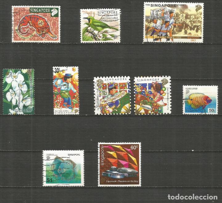 SINGAPUR CONJUNTO DE SELLOS USADOS DE LOS AÑOS 1998-2002 VALOR CAT. 8,45 EUROS (Sellos - Colecciones y Lotes de Conjunto)