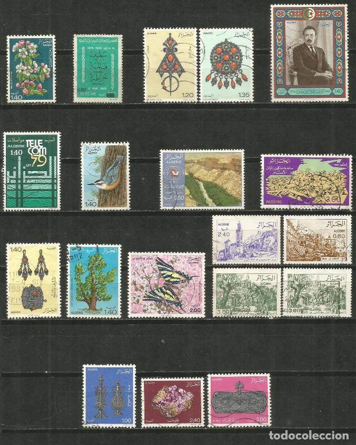 ARGELIA CONJUNTO DE SELLOS USADOS DE LOS AÑOS 1978-1983 (Sellos - Colecciones y Lotes de Conjunto)