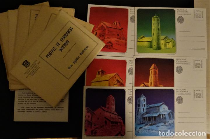 Sellos: 6 Sobre con 6 enteros postales de Andorra , Series: Esglésies Romaniques - Foto 2 - 190991062