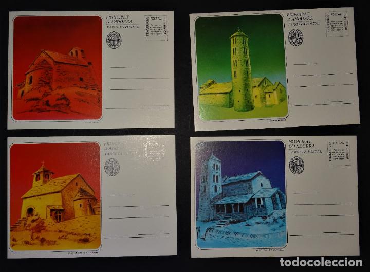 Sellos: 6 Sobre con 6 enteros postales de Andorra , Series: Esglésies Romaniques - Foto 3 - 190991062