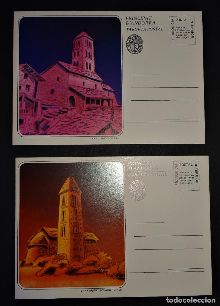 Sellos: 6 Sobre con 6 enteros postales de Andorra , Series: Esglésies Romaniques - Foto 4 - 190991062
