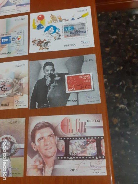 Sellos: lote de 11 bloques nuevos año 2000 cine,Baile,tv, - Foto 2 - 194014180