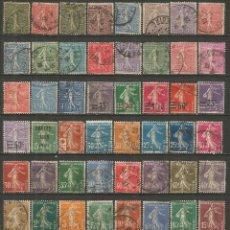 Sellos: FRANCIA CONJUNTO DE SELLOS USADOS ANTIGUOS. Lote 194157185