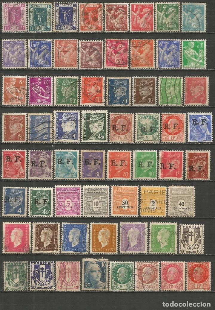 FRANCIA CONJUNTO DE SELLOS USADOS ANTIGUOS (Sellos - Colecciones y Lotes de Conjunto)
