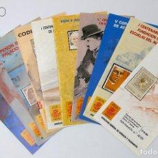 Sellos: LOTE DE DIEZ FOLLETOS CON SUS SELLOS CORRESPONDIENTES. Lote 194525433