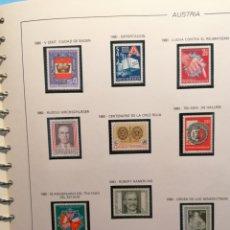 Sellos: AUSTRIA COLECCIÓN 1980 A 1985 EN NUEVO PERFECTO EN HOJAS DE ÁLBUM FILABO. Lote 195201451