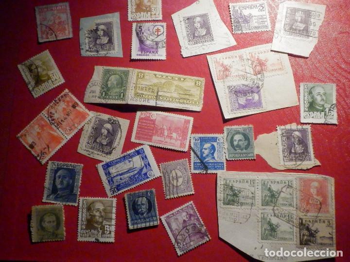 LOTE DE SELLOS ESPAÑA, USA, CUBA Y OTROS - USADOS - EN SOBRE 001 (Sellos - Colecciones y Lotes de Conjunto)