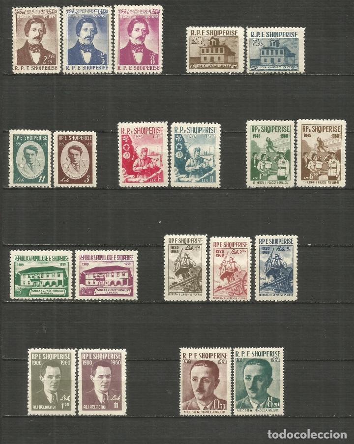 ALBANIA 1958-1961 CONJUNTO DE 9 SERIES COMPLETAS */** VALOR CAT. 45,30 EUROS (Sellos - Colecciones y Lotes de Conjunto)