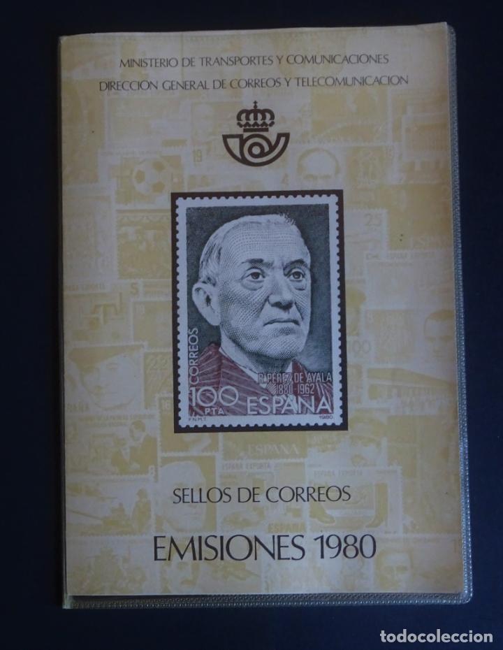 CARPETA DE EMISIONES DE SELLOS DE CORREOS DEL AÑO 1980, VER FOTOS Y COMENTARIOS (Sellos - Colecciones y Lotes de Conjunto)