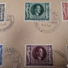 Sellos: SOBRE CON SELL9S DE ALEMANIA DE 1943 CON MATASELLOS DE AMSTERDAM C309. Lote 197960550