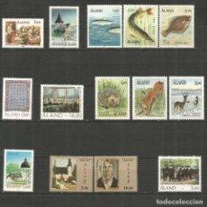 Sellos: ALAND FINLANDIA CONJUNTO DE SERIES COMPLETAS ** SIN FIJASELLOS VALOR CAT. 41,75 EUROS. Lote 198132171
