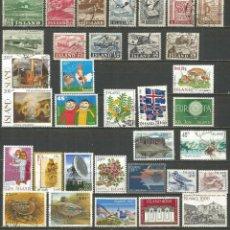Francobolli: ISLANDIA CONJUNTO DE SELLOS USADOS DIFERENTES. Lote 199407476