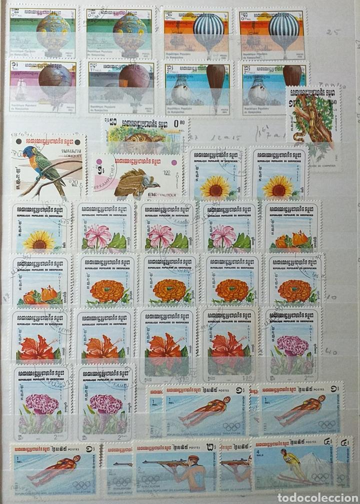 Sellos: Colección de sellos de Camboya bastante completa en álbum de 16 páginas - Foto 3 - 200853081
